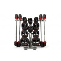 10 Set Les Mills SMARTBAR™ Rack with 10 Sets of SMARTBAR™ Bar & Weights