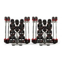 2 10 Set Les Mills SMARTBAR™ Rack with 20 Sets of SMARTBAR™ Bar & Weights
