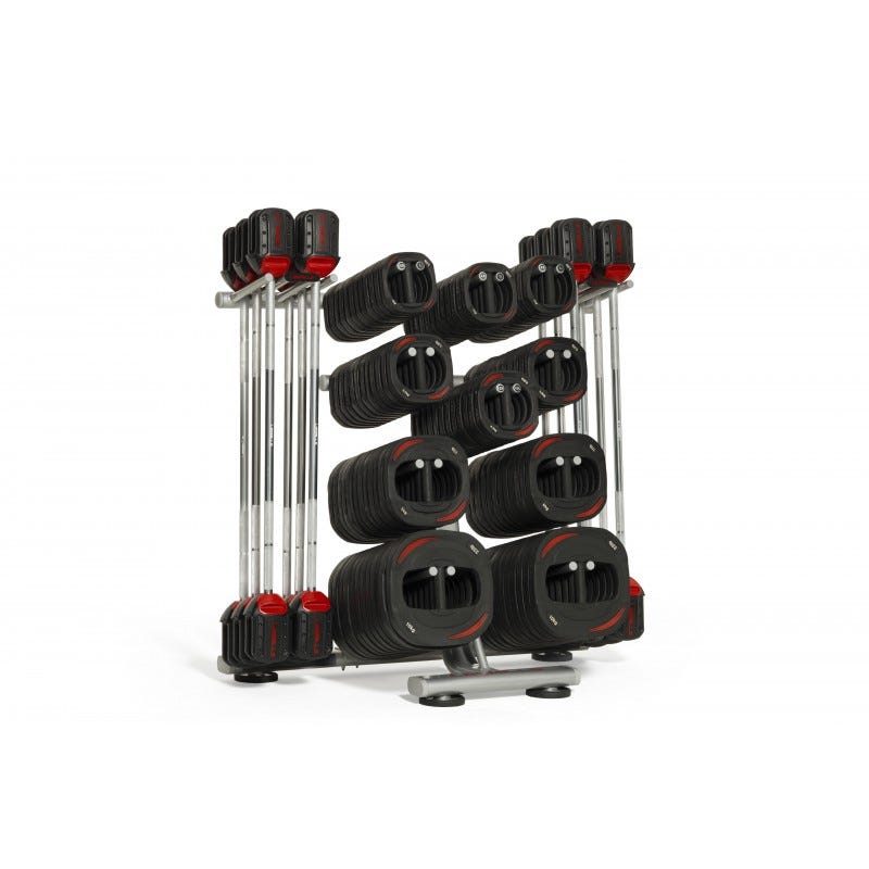 12 Set Les Mills SMARTBAR™ Storage Rack Full